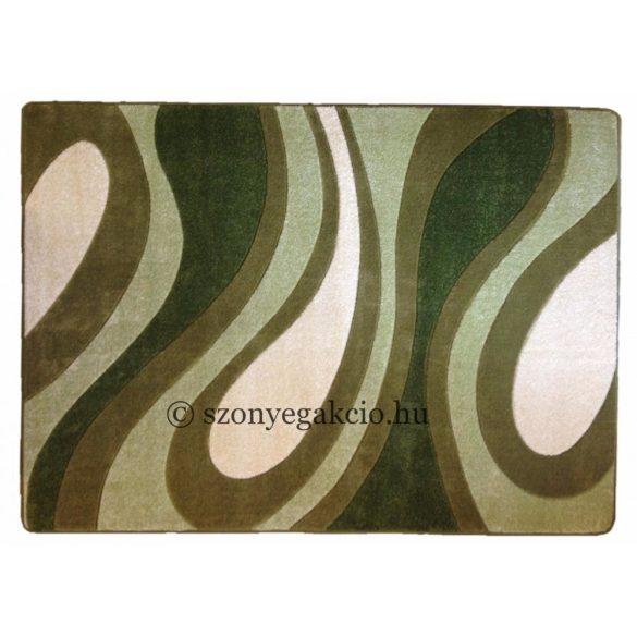 Zöld csepp/vízfolyás szőnyeg 160x220 cm