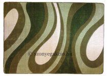 Zöld csepp/vízfolyás szőnyeg 200x280 cm