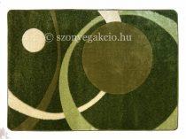 Zöld két körös pöttyös szőnyeg  60x110 cm