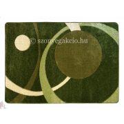 Zöld két körös pöttyös szőnyeg 120x170 cm