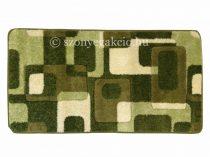 Zöld kockás2 szőnyeg  80x150 cm