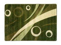 Zöld körös szőnyeg  60x110 cm