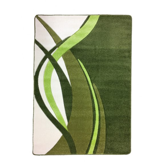 Zöld modern vonalas szőnyeg 120x170 cm