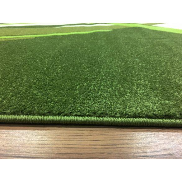 Zöld modern vonalas szőnyeg 160x220 cm