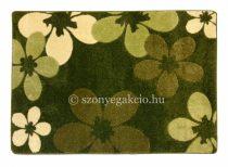 Zöld virágos szőnyeg  60x110 cm