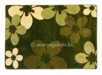 Zöld virágos szőnyeg  80x150 cm