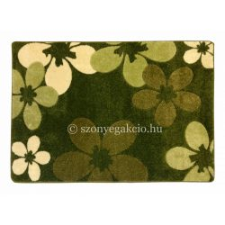 Zöld virágos szőnyeg 120x170 cm